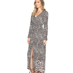 Billabong Allergra Kimono Long Sleeve Maxi Dress s
